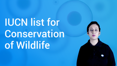 IUCN list for Conservation of Wildlife